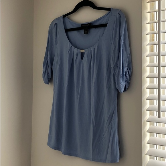 White House Black Market Tops - Baby blue WHBM cotton tee, worn once